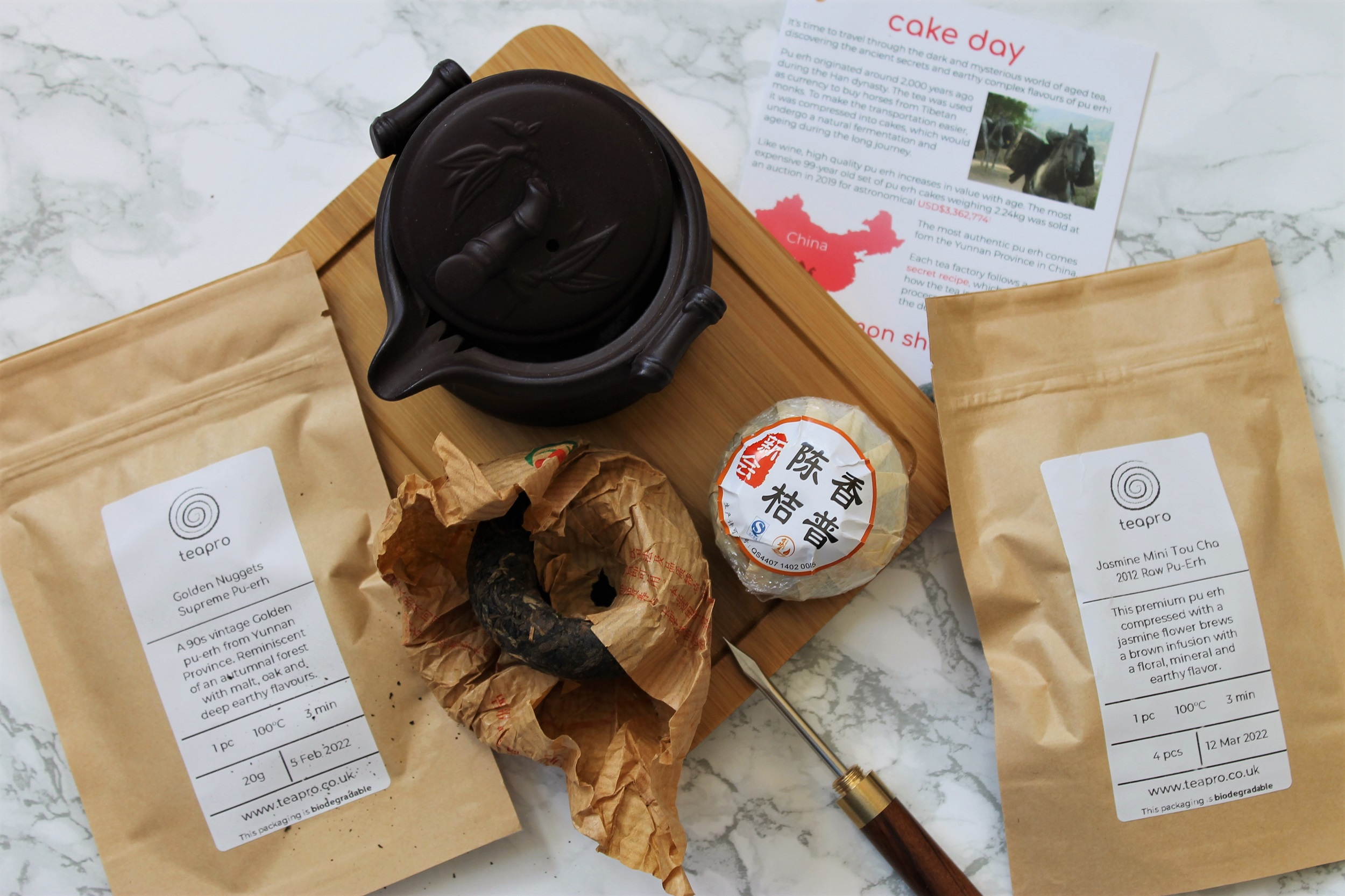 Teapro Subscription Box: 'Cake Day Pu-erh' February 2020