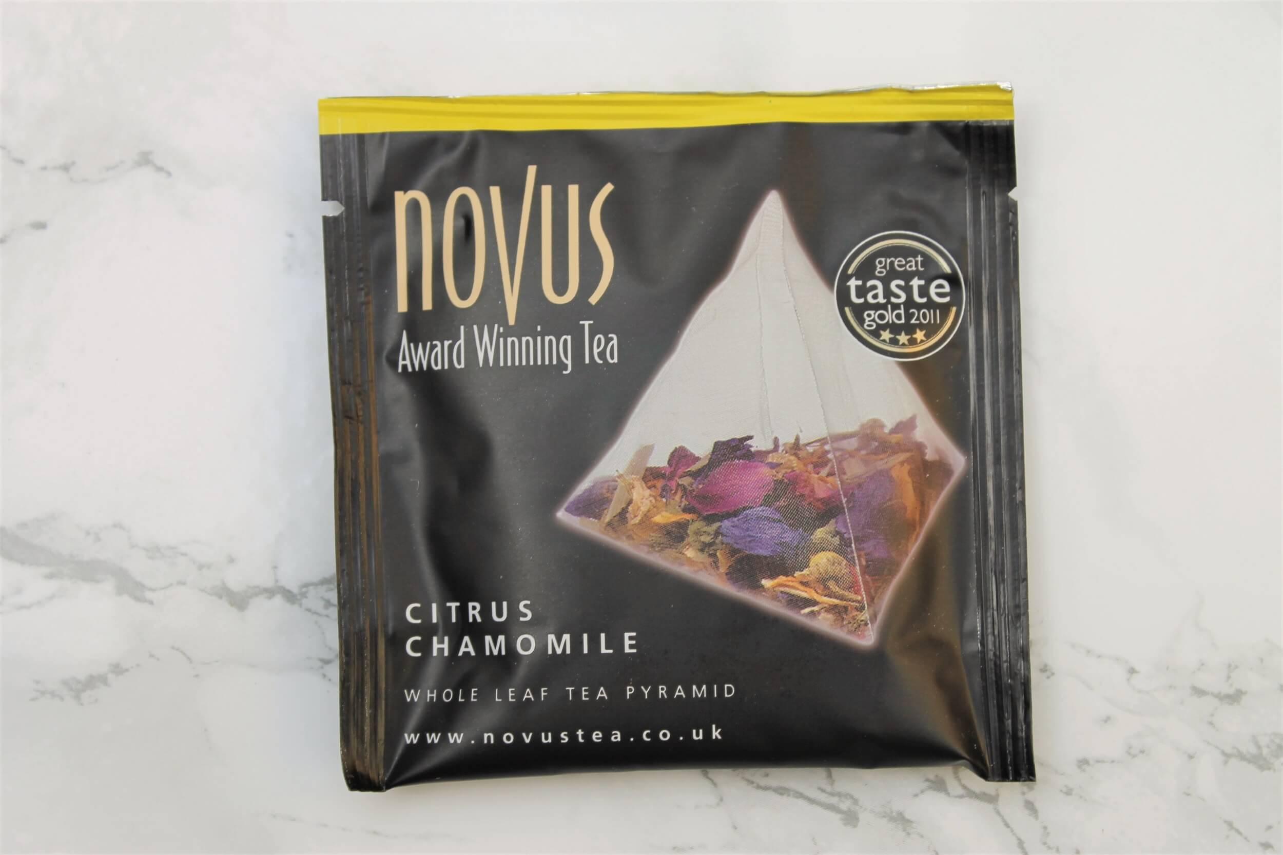 novus citrus chamomile tea pyramid