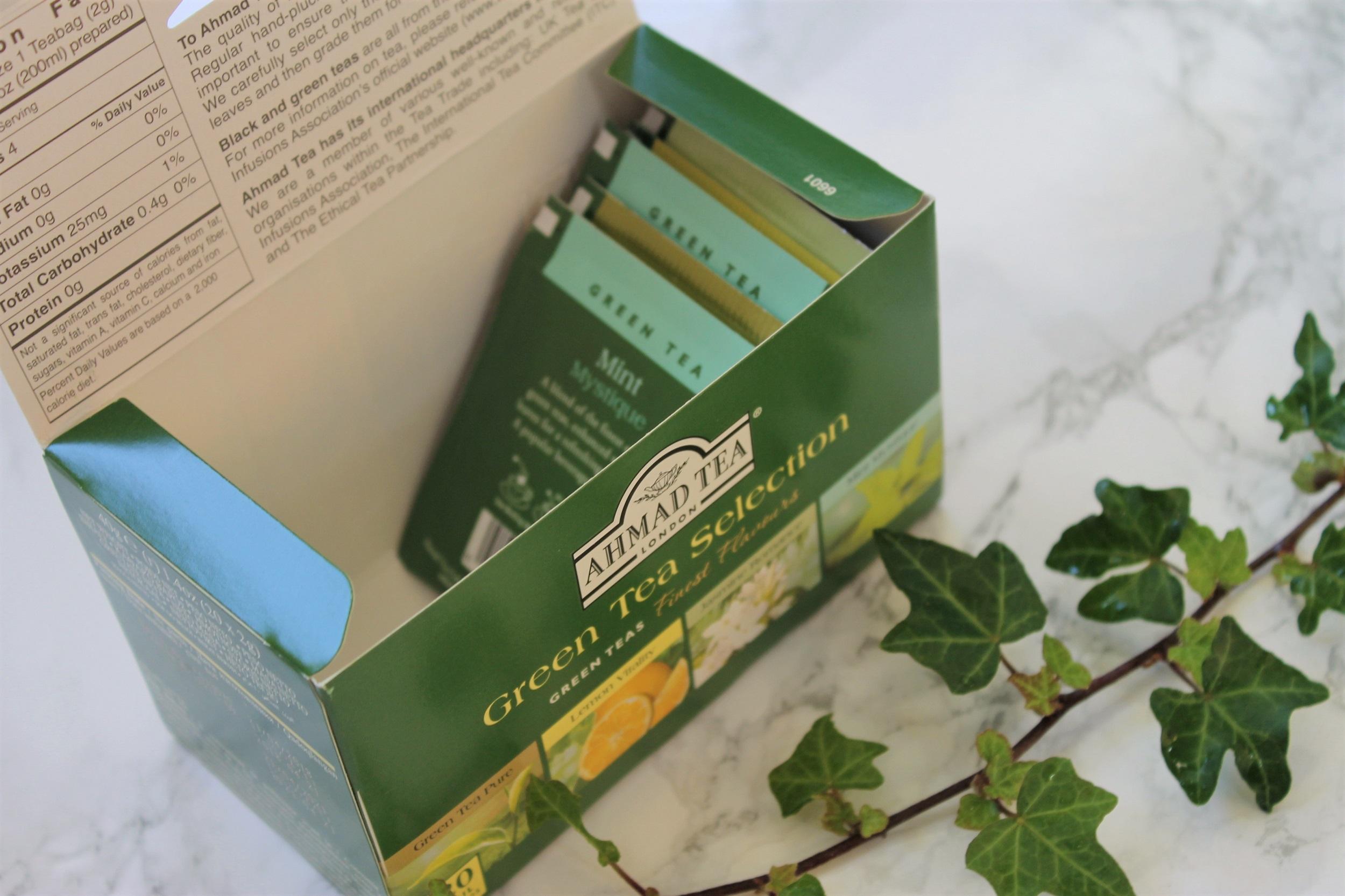 ahmad tea london green tea selection