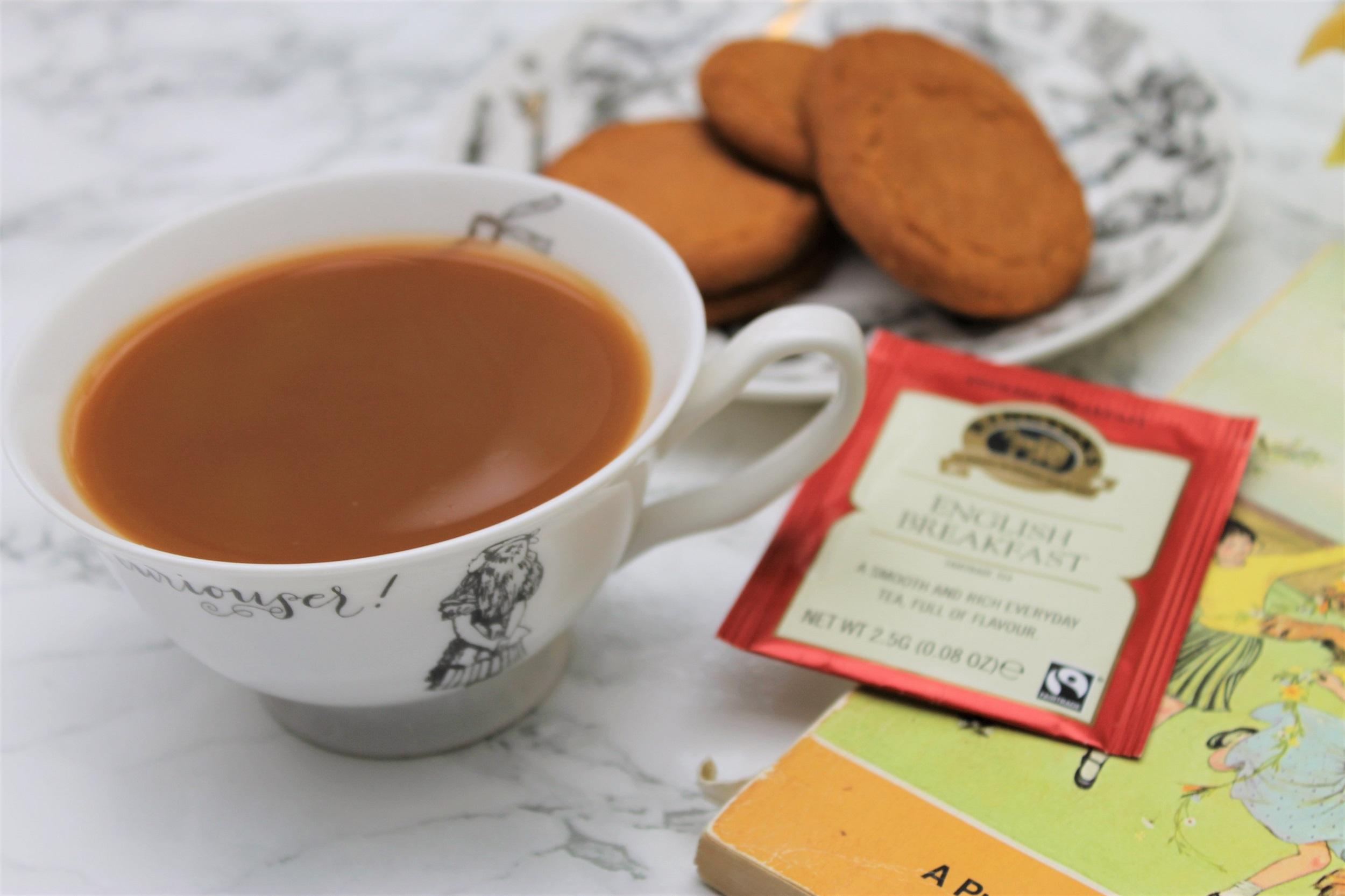 ringtons english breakfast tea in teacup