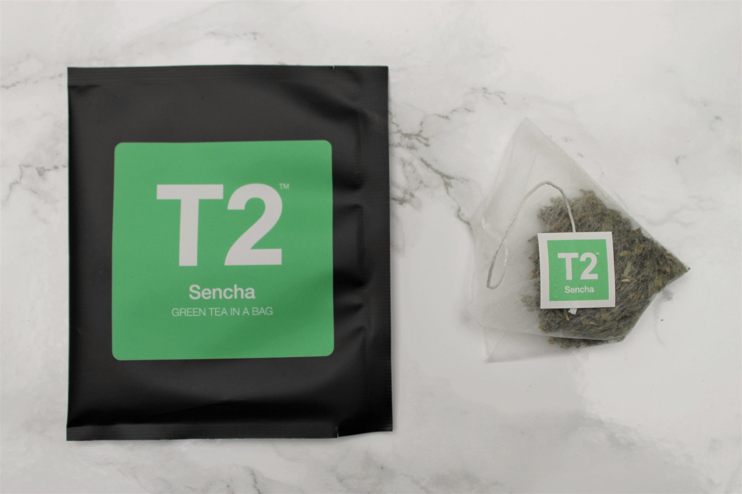 t2 sencha teabag
