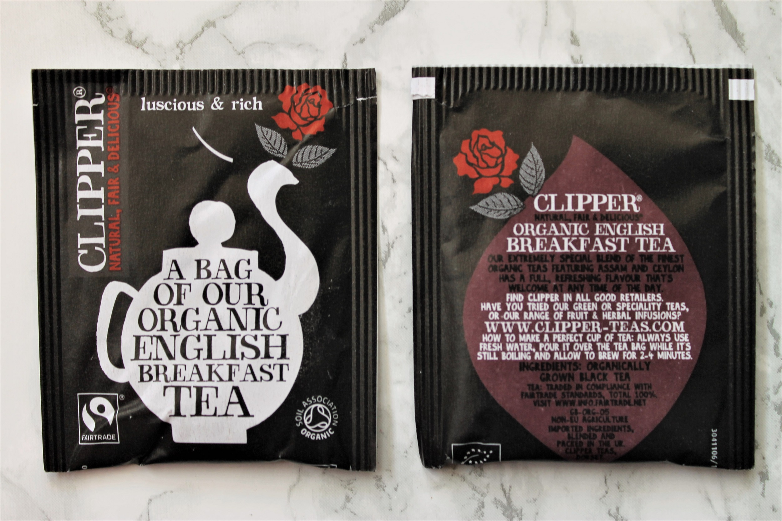 clipper english breakfast teabags