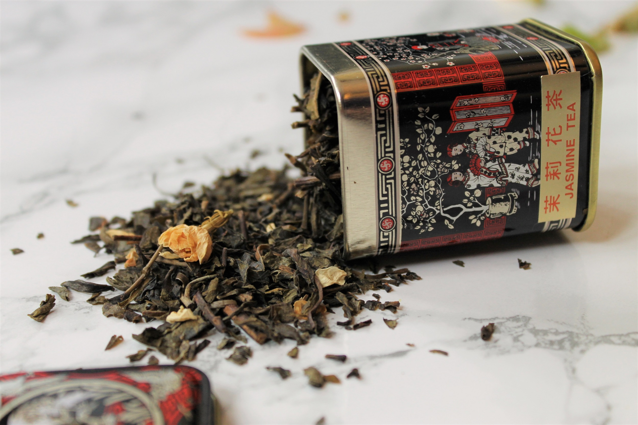 jasmine green tea caddy