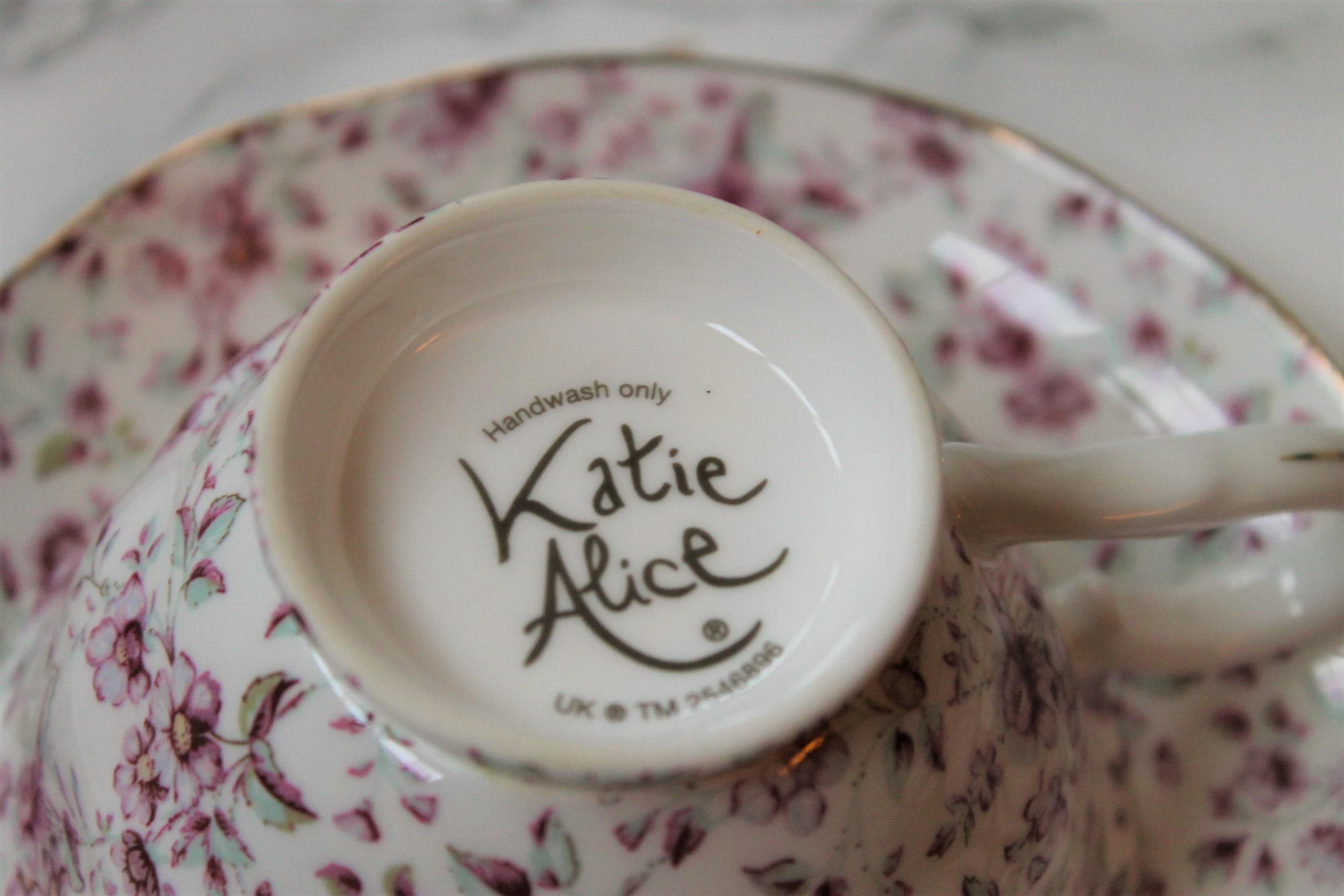 katie alice pink teaware