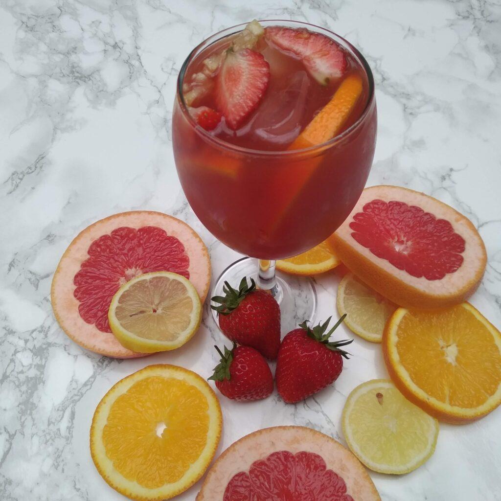 fruit tea cocktail