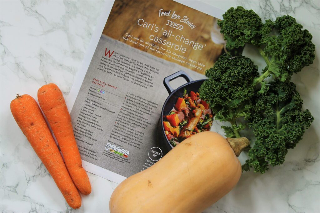 carrot kale squash sausage casserolecarrot kale squash sausage casserole
