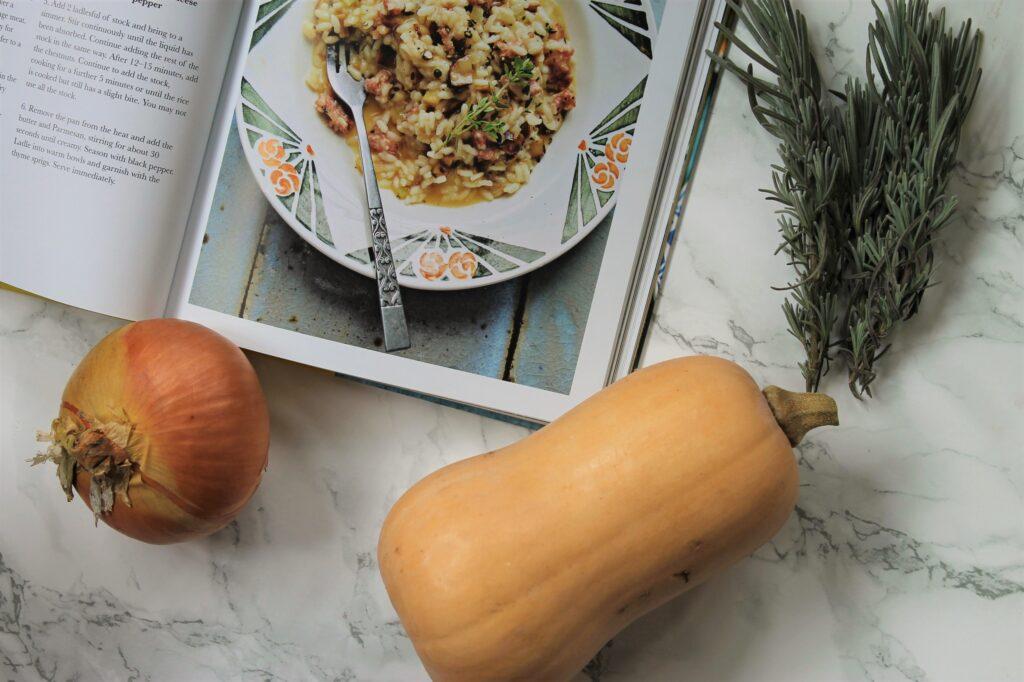 chestnut sausage squash onion risotto recipe