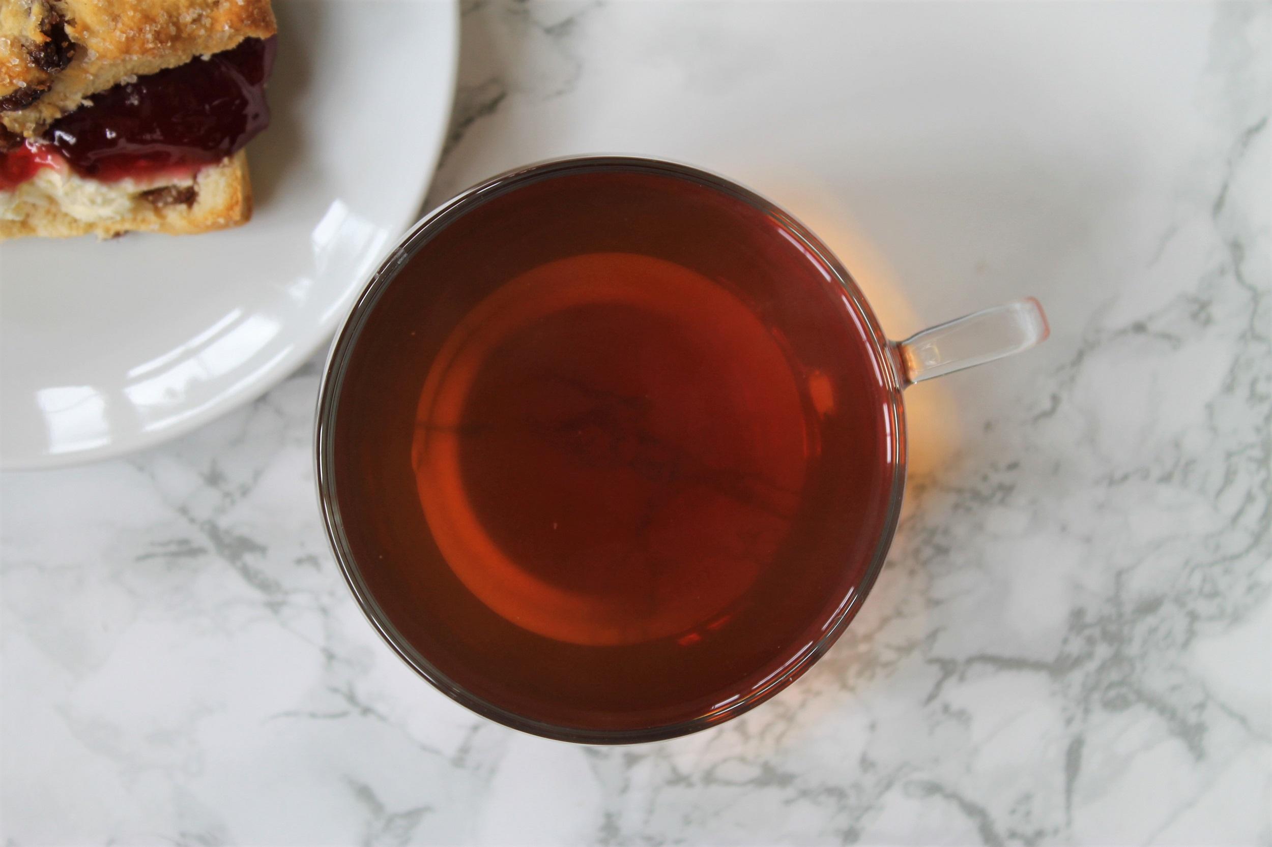 earl grey cream tea in teacup