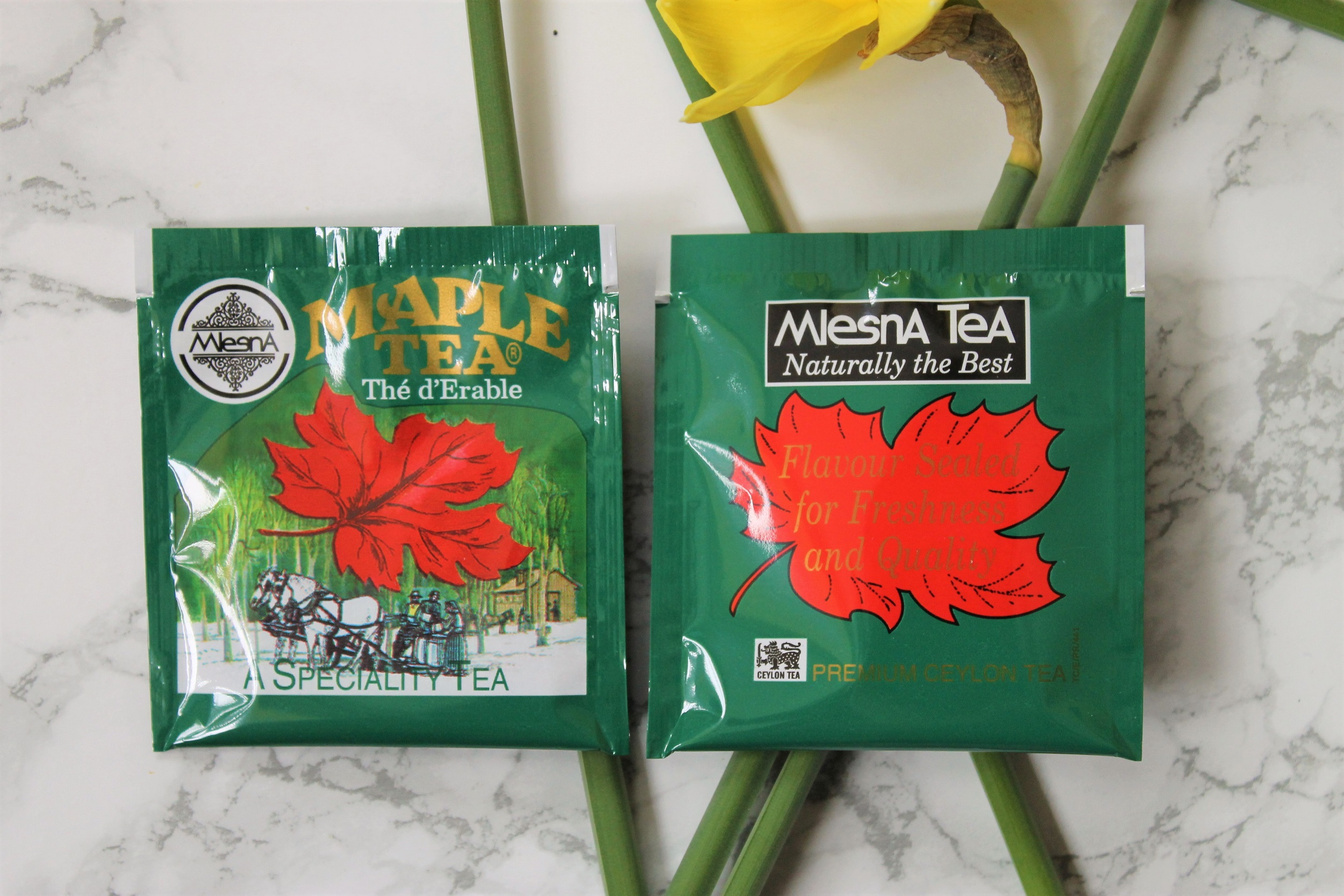 mlesna maple syrup tea wrappers