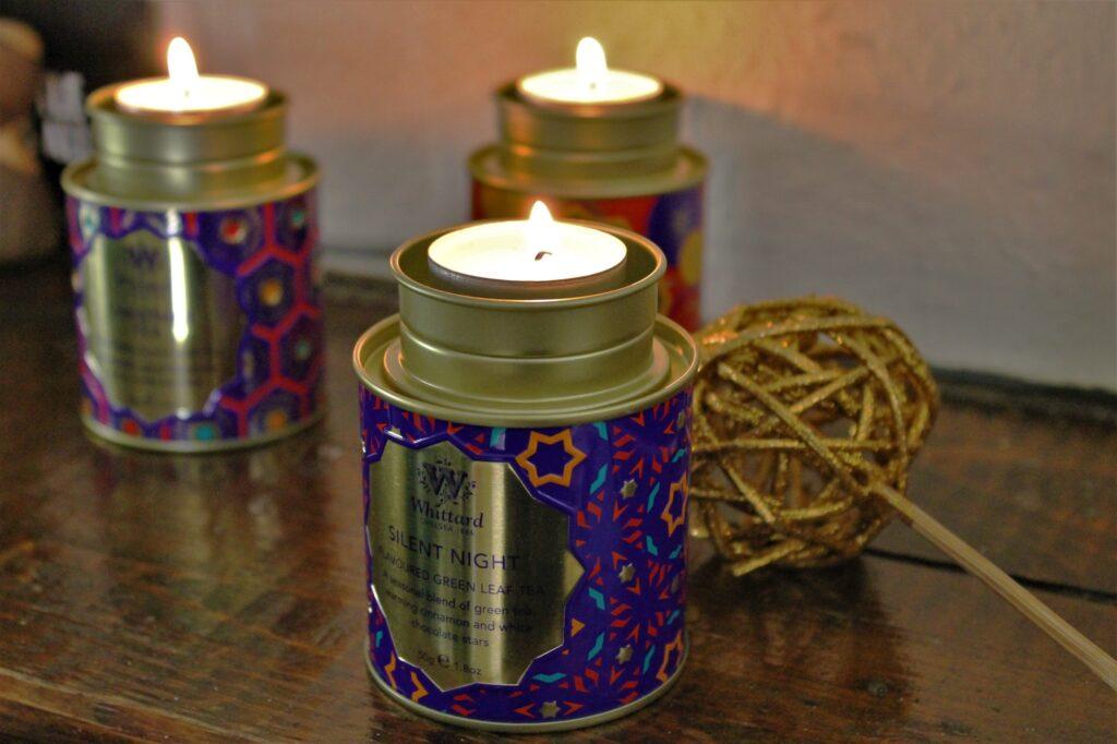 tea caddy tea lights