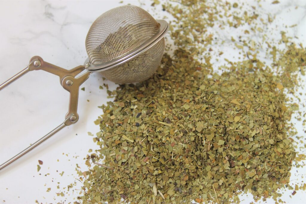 green yerba mate leaf