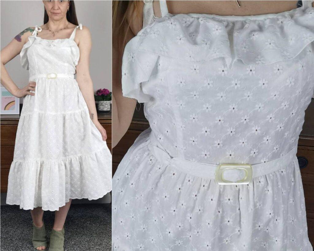 vintage lace white dress on Etsy uk