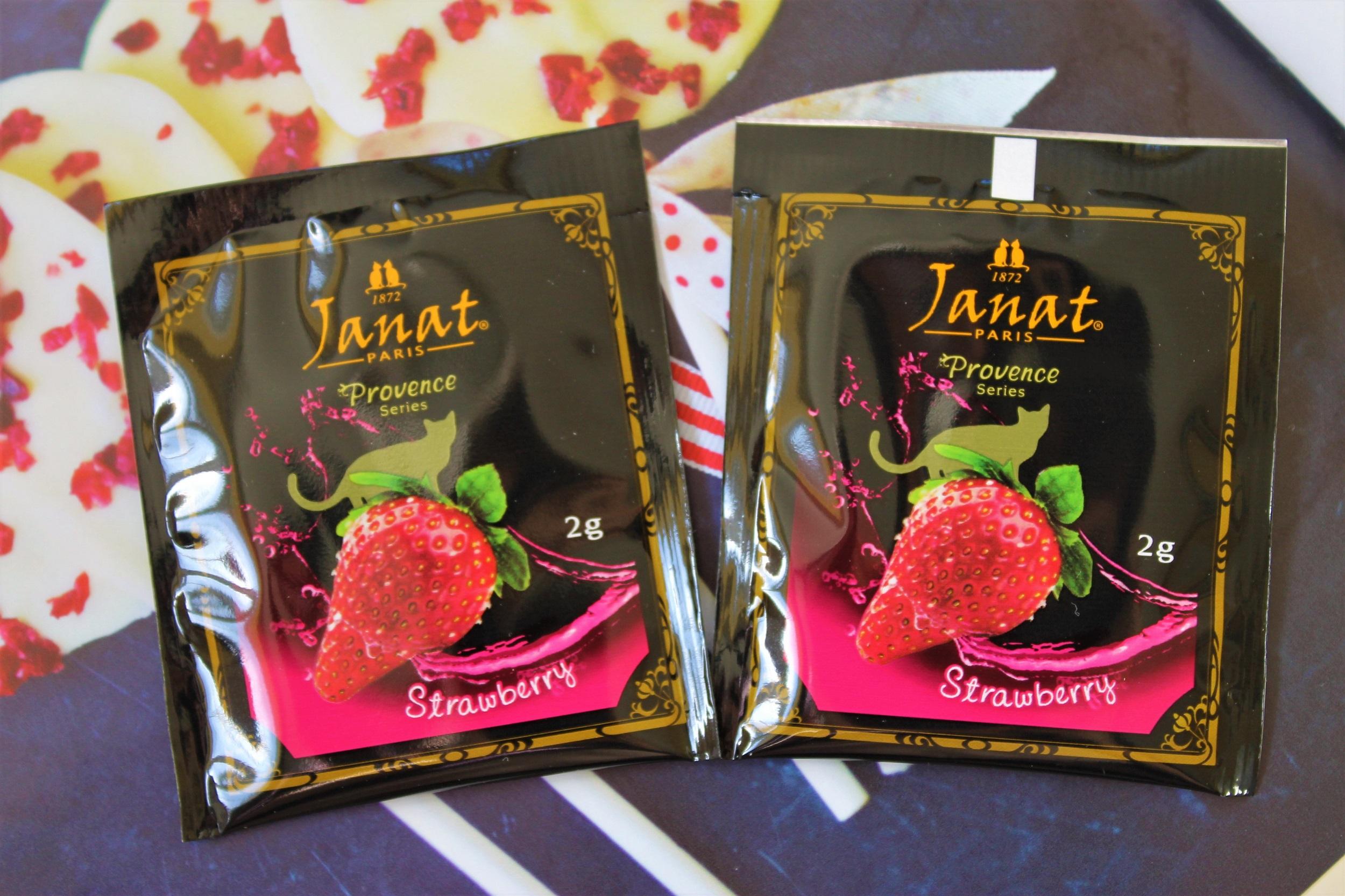 janat strawberry black teabags