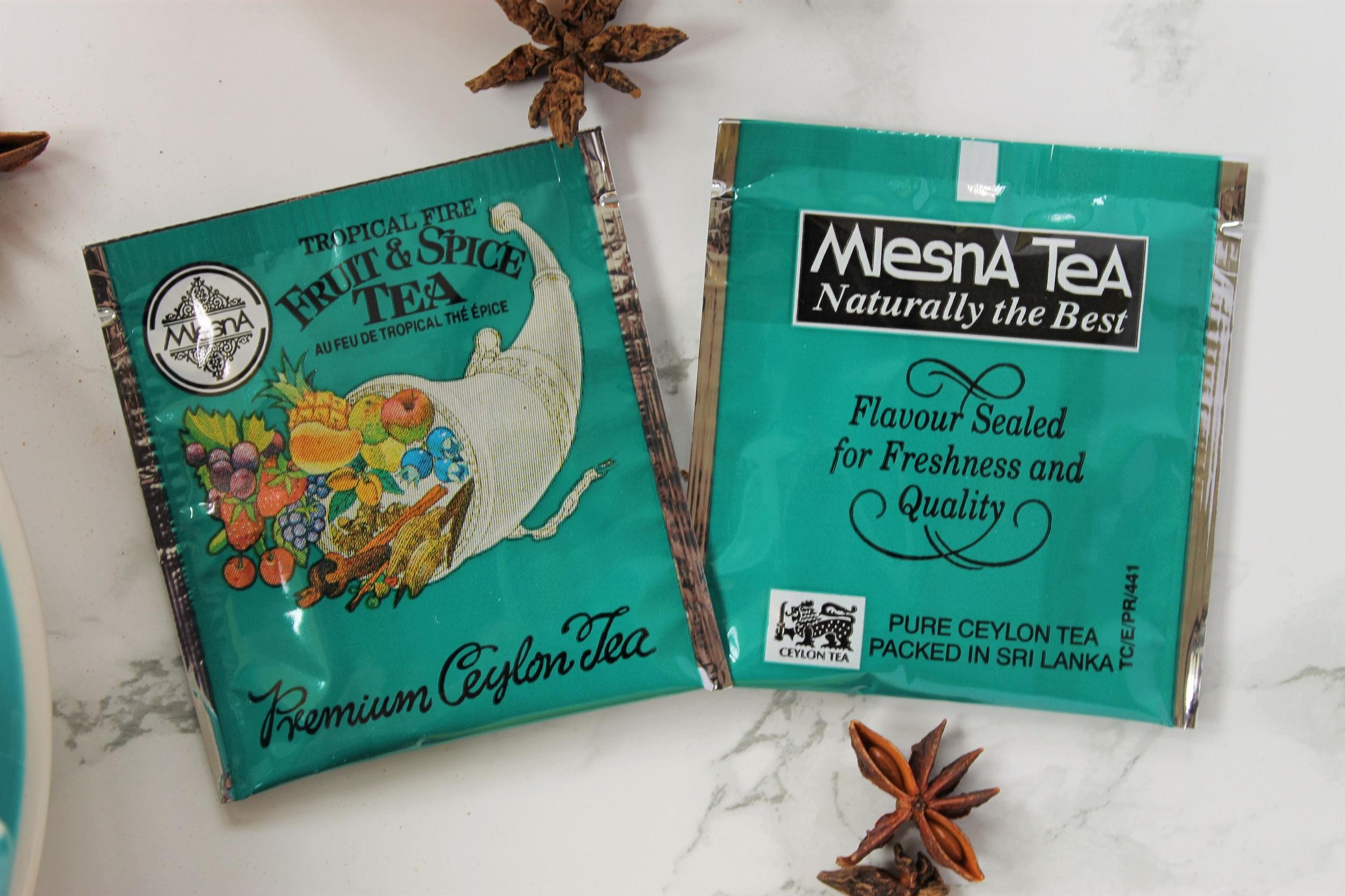 mlesna turquoise tea bags