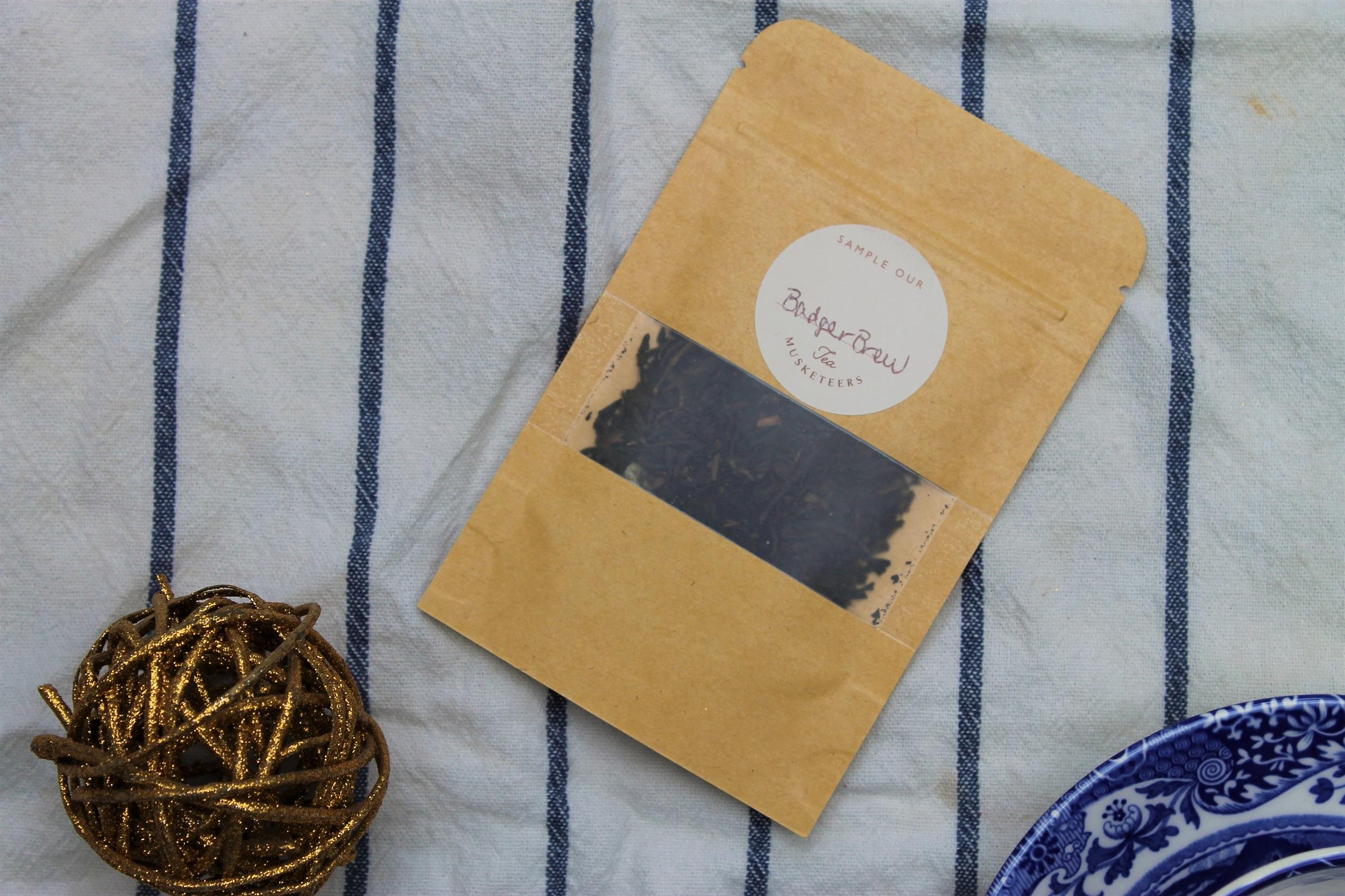 badger brew loose leaf tea pouch