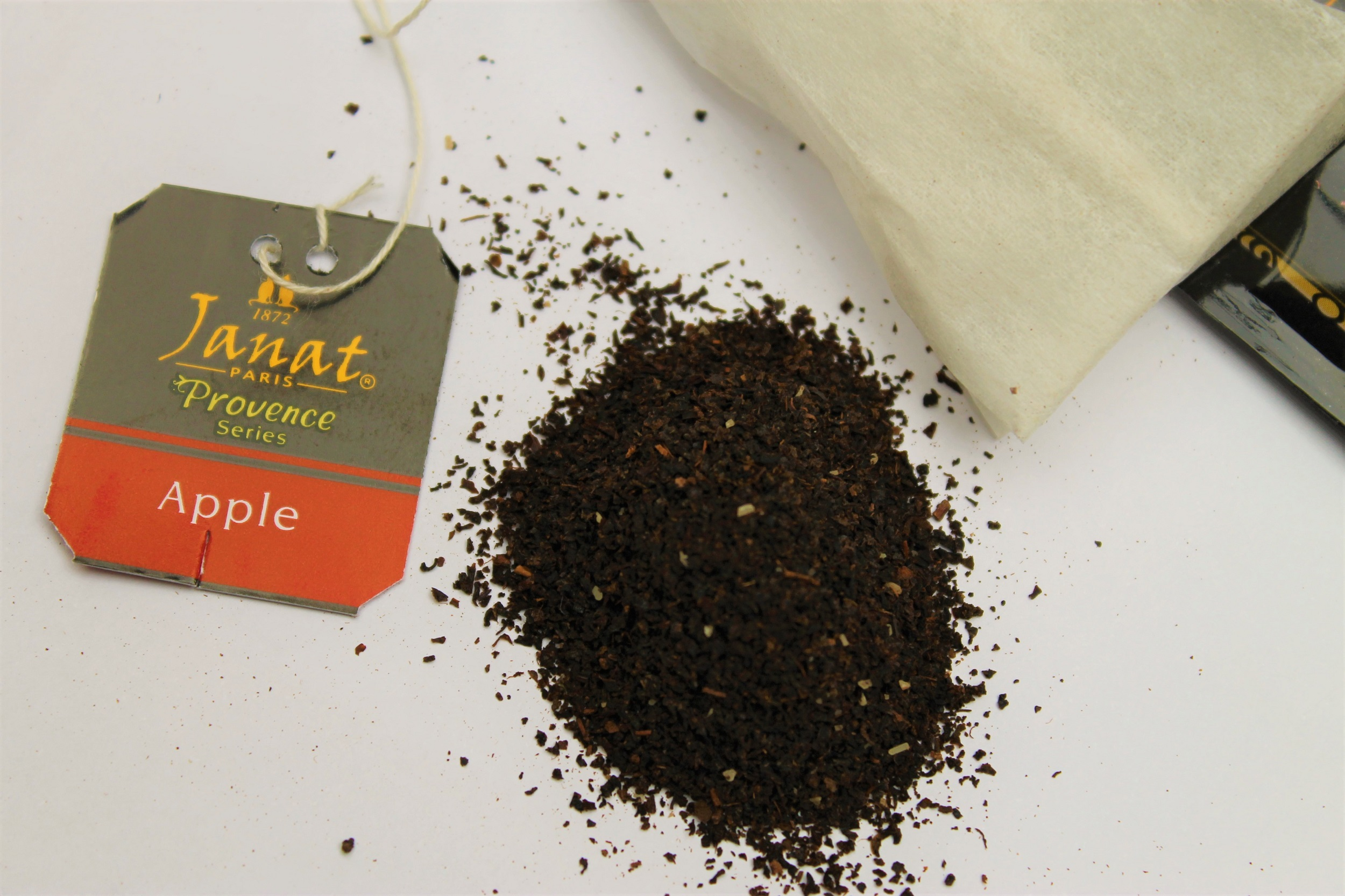 black tea with apple flavouring