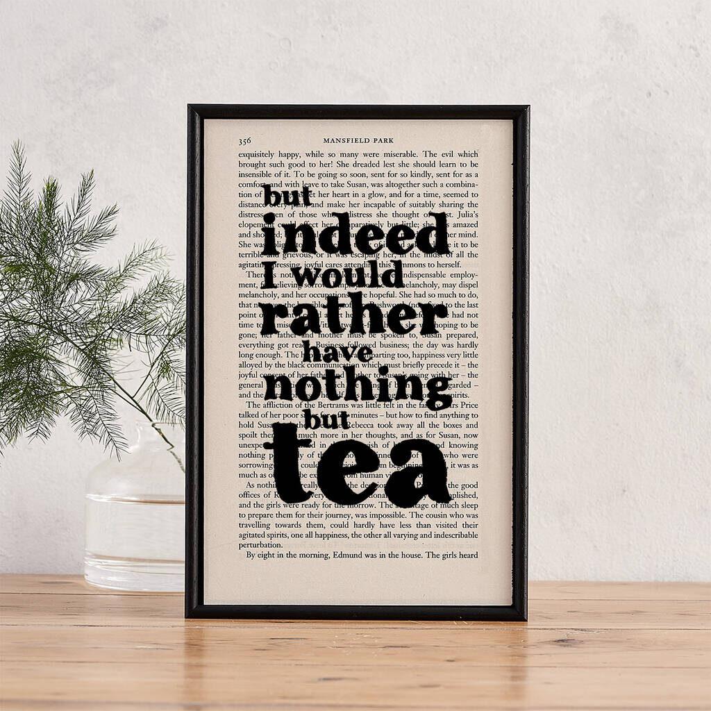 Tea-Themed Art Print