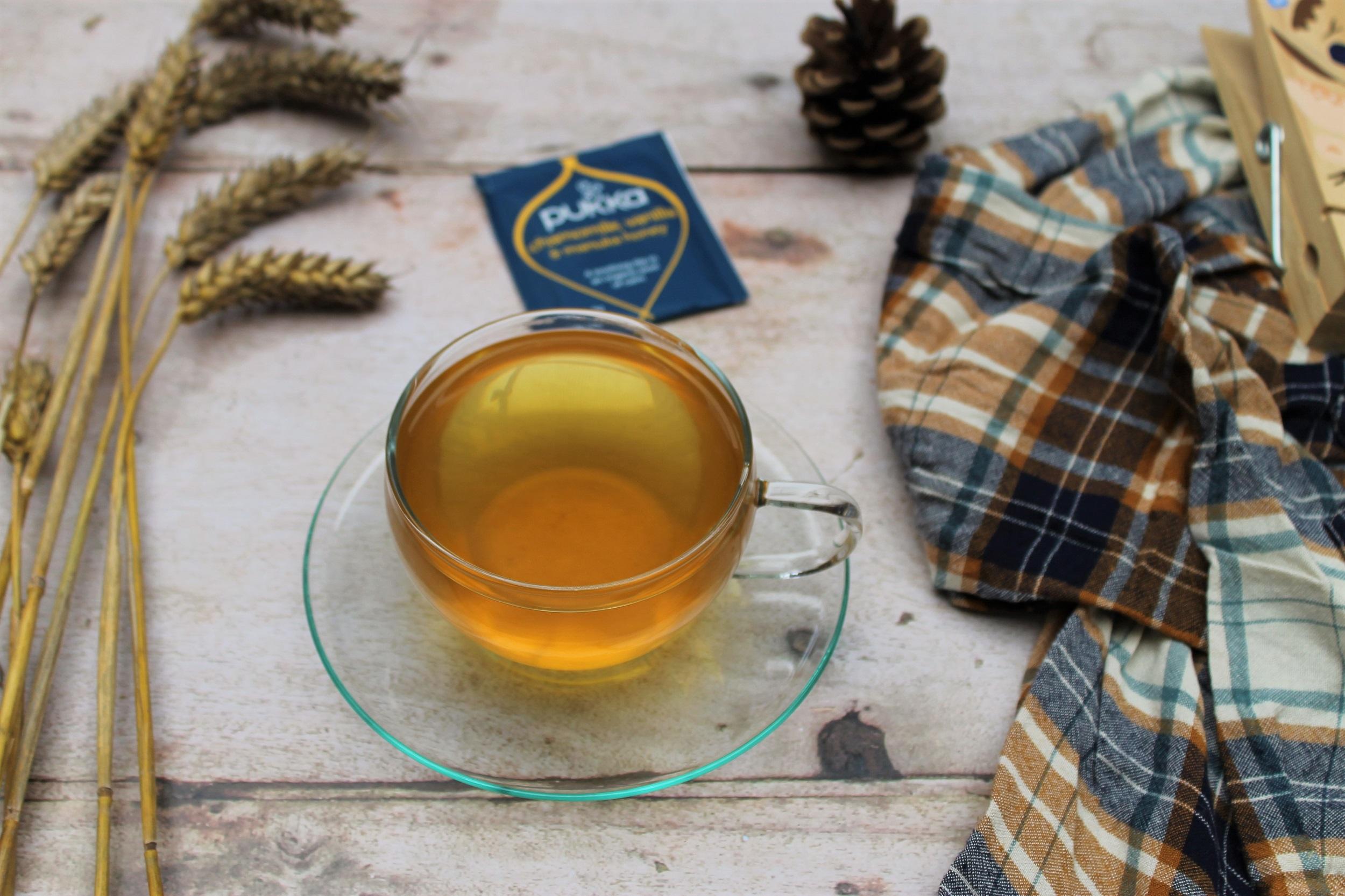 chamomile vanilla and honey tea by pukka