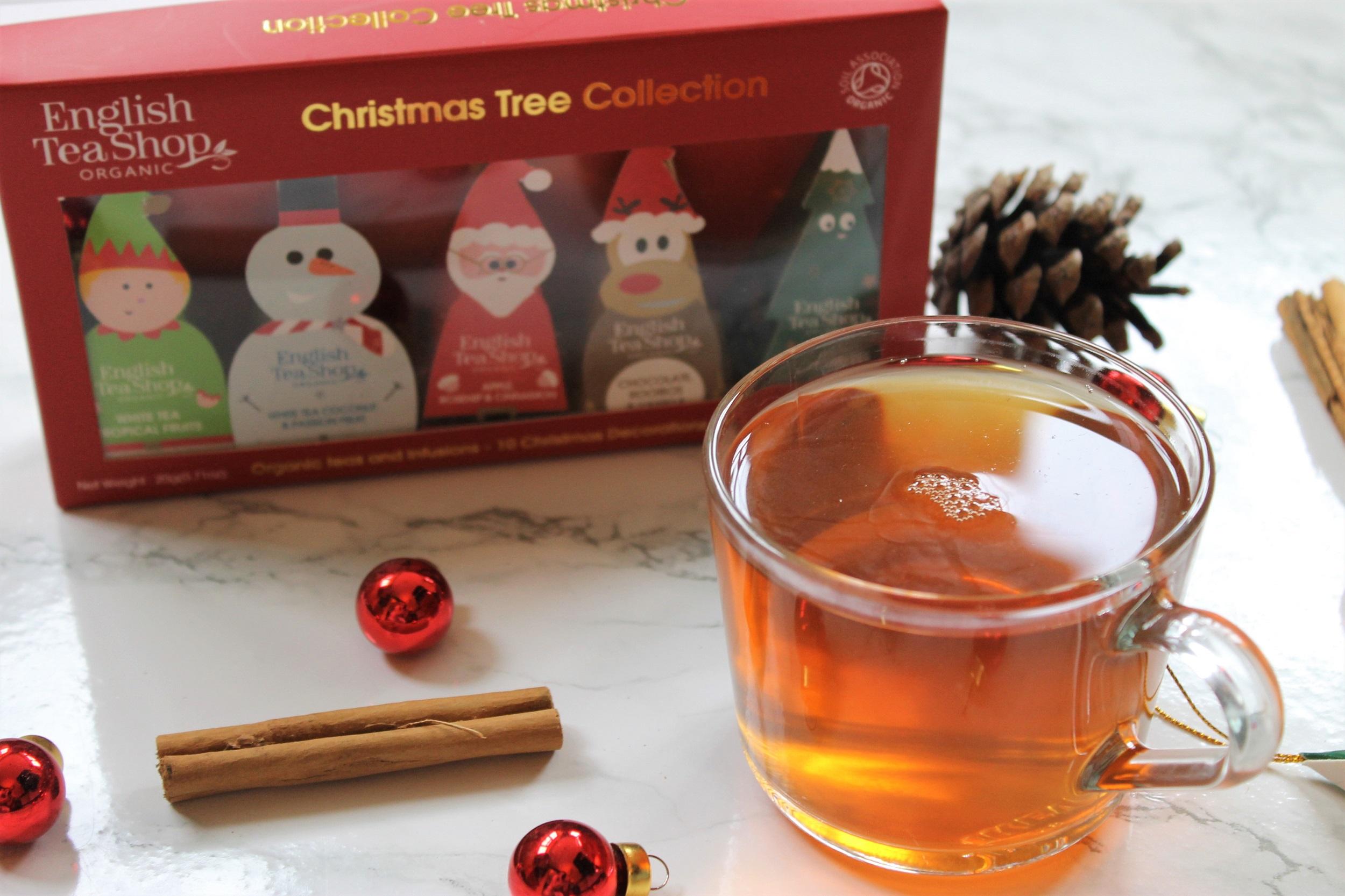 christmas themed english tea shop tea