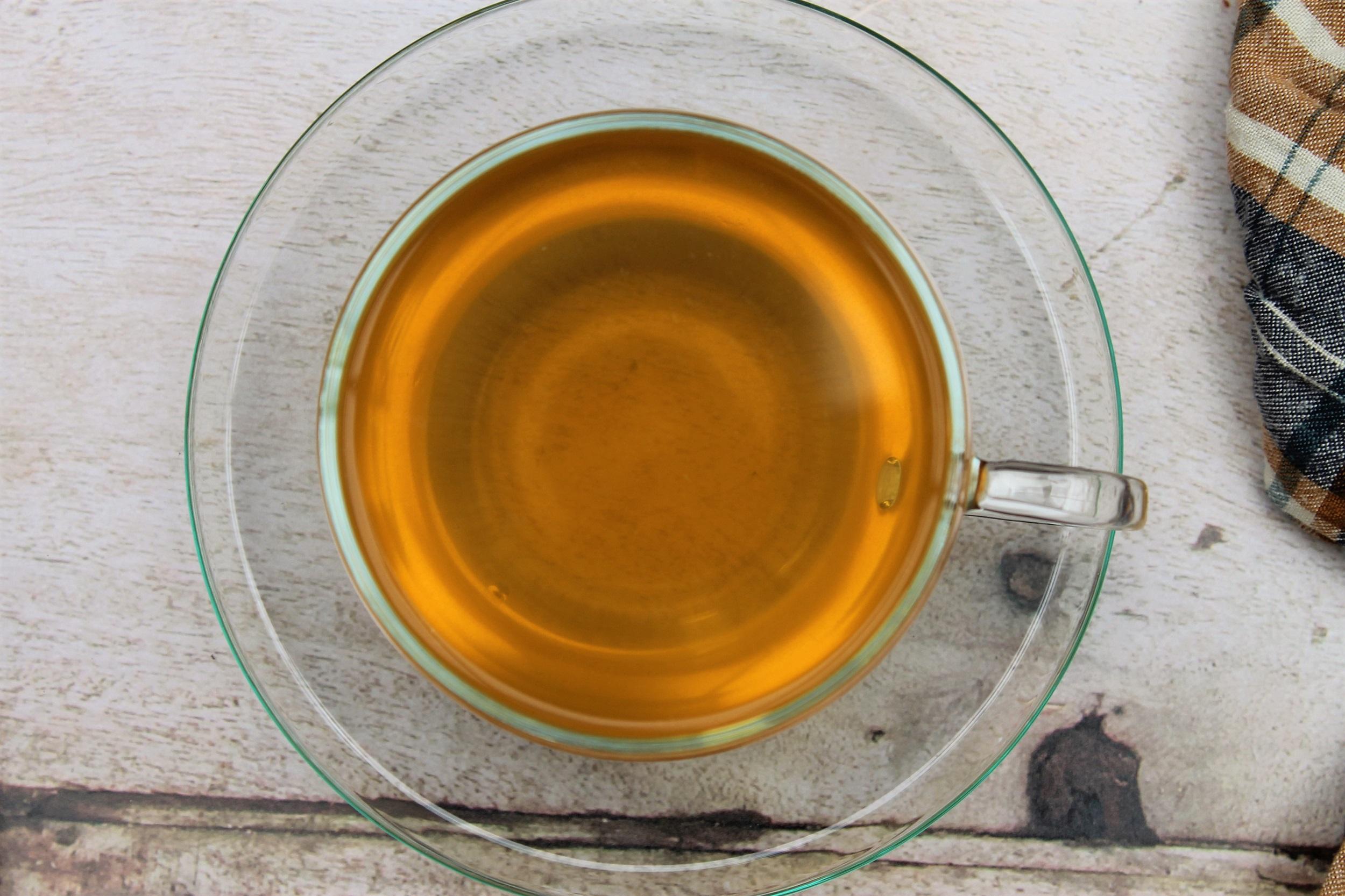 golden chamomile pukka tea in teacup