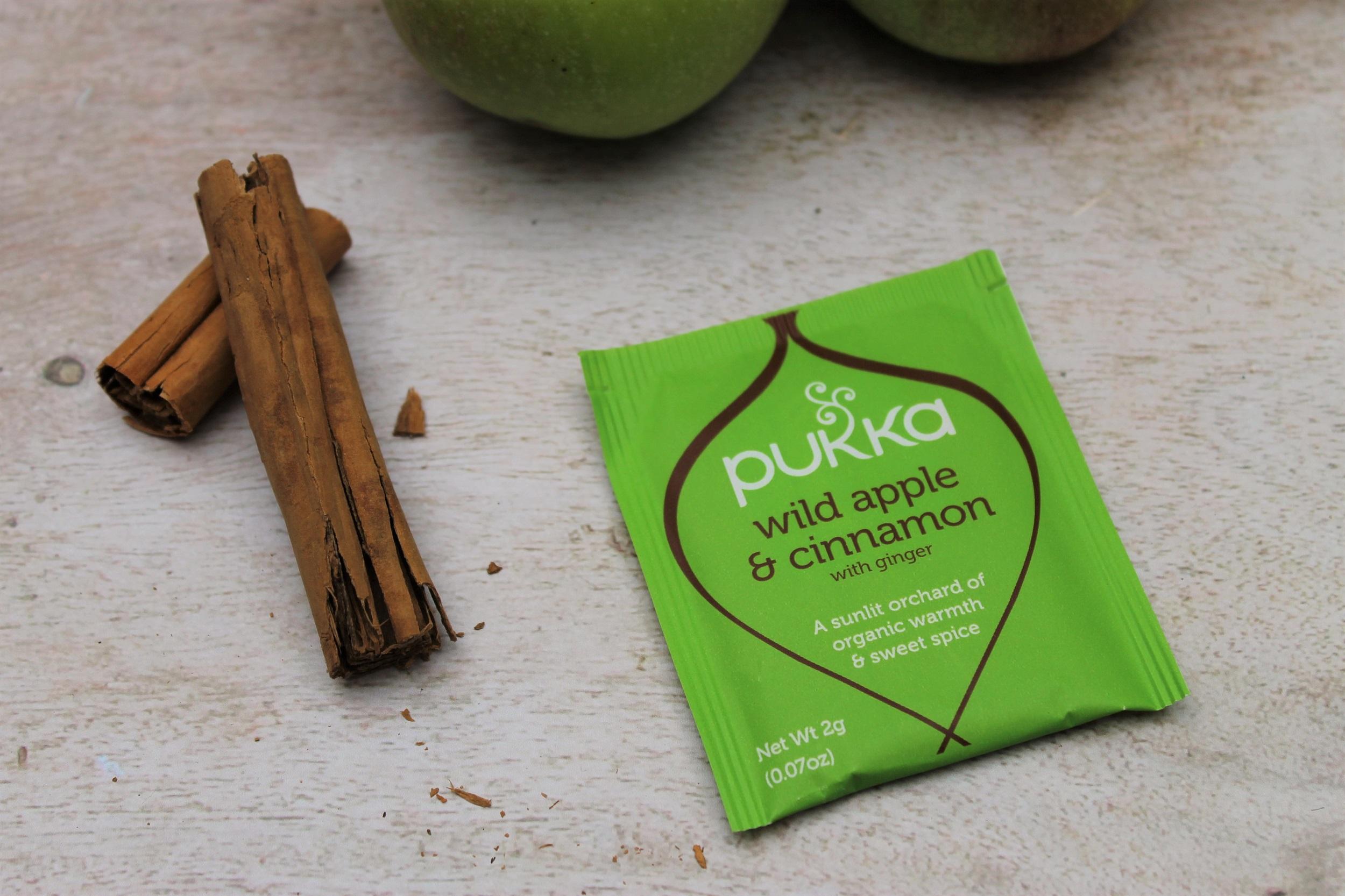 pukka wild apple cinnamon ginger teabags