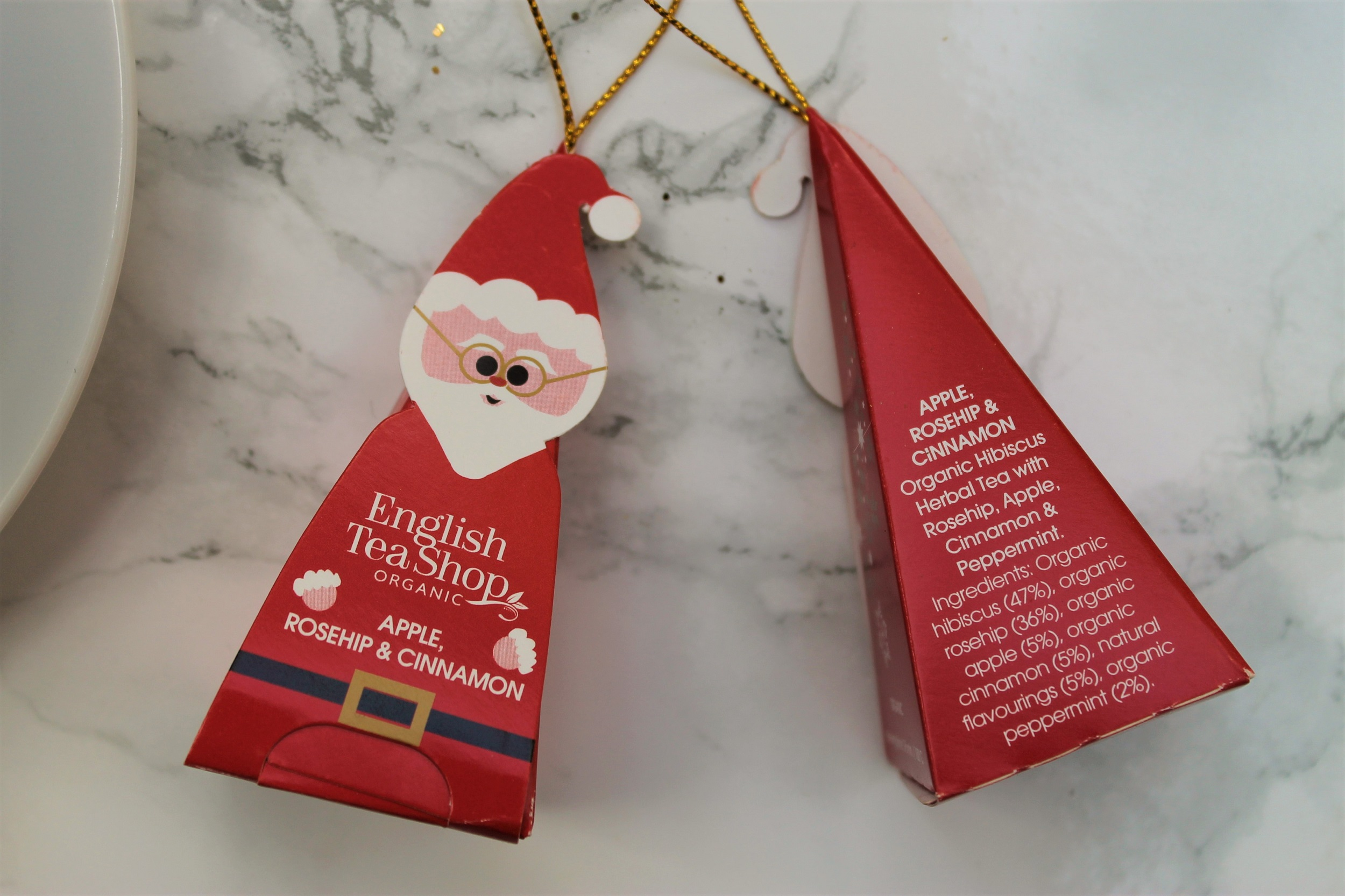 english tea shop santa tree decoration